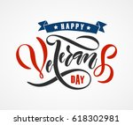 hand sketched text 'happy... | Shutterstock .eps vector #618302981