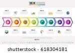 timeline infographics design... | Shutterstock .eps vector #618304181