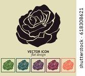 rose icon | Shutterstock .eps vector #618308621