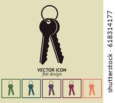 vector illustration of keys | Shutterstock .eps vector #618314177