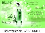 green repair serum with tea... | Shutterstock .eps vector #618318311