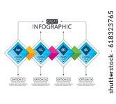 infographic flowchart template. ... | Shutterstock .eps vector #618323765