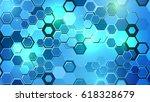 modern technology background...   Shutterstock . vector #618328679