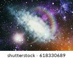 milky way cosmic background.... | Shutterstock . vector #618330689
