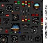 Airplane Instrument Panel....