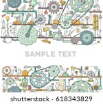 machinery template with space... | Shutterstock .eps vector #618343829