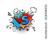 comic speech bubble with... | Shutterstock .eps vector #618348551