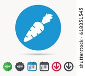 carrot icon. fresh natural... | Shutterstock .eps vector #618351545