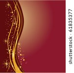 elegant dark  and golden... | Shutterstock . vector #61835377