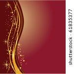 elegant dark  and golden... | Shutterstock . vector #61835377