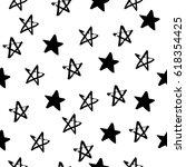 seamless hand drawn star... | Shutterstock .eps vector #618354425