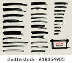 marker brush stroke abstract... | Shutterstock .eps vector #618354905