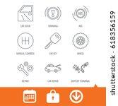 car key  repair tools and... | Shutterstock .eps vector #618356159