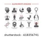 alzheimer's disease and... | Shutterstock .eps vector #618356741