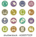 computer vector icons for user... | Shutterstock .eps vector #618357329