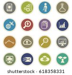 data analytic vector icons for... | Shutterstock .eps vector #618358331