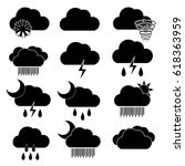 cloudy and rainy icon. weather... | Shutterstock .eps vector #618363959