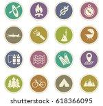 active recreation vector icons... | Shutterstock .eps vector #618366095
