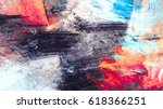 bright artistic splashes.... | Shutterstock . vector #618366251