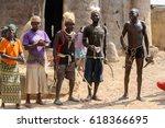 tamberma vil  togo   jan 13 ... | Shutterstock . vector #618366695