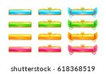 colorful glossy banners for...