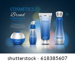cosmetic set. realistic... | Shutterstock .eps vector #618385607