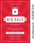 sale flyer or poster design... | Shutterstock .eps vector #618387245