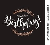 happy birthday. beautiful...   Shutterstock .eps vector #618388865
