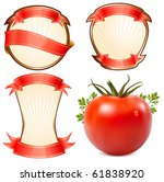 label for a product  ketchup ... | Shutterstock .eps vector #61838920
