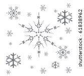 christmas pattern snowflake | Shutterstock .eps vector #61838962