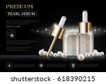 hydrating facial serum for... | Shutterstock .eps vector #618390215