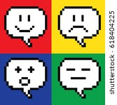 emotion pixel | Shutterstock .eps vector #618404225