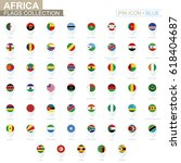 africa flags collection. big... | Shutterstock .eps vector #618404687