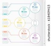business presentation concept... | Shutterstock .eps vector #618409415