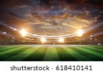 lights at night and stadium 3d | Shutterstock . vector #618410141