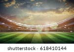 lights at night and stadium 3d | Shutterstock . vector #618410144