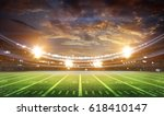 american football stadium 3d. | Shutterstock . vector #618410147