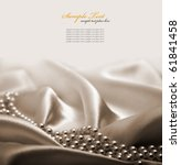 Stock photo pearls a necklace on a silk fabric 61841458