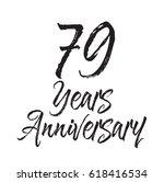 79 years anniversary  text... | Shutterstock .eps vector #618416534