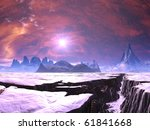 Earthquake Chasm On Alien Ice...