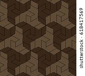 black and brown geometric... | Shutterstock .eps vector #618417569