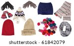 collection of woman winter...   Shutterstock . vector #61842079