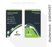 vertical double sided business... | Shutterstock .eps vector #618424457