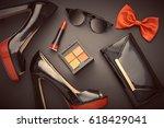 fashion design woman... | Shutterstock . vector #618429041