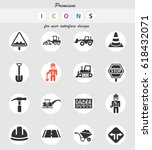 road repairs web icons for user ... | Shutterstock .eps vector #618432071