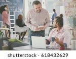 casual businessman at work ...   Shutterstock . vector #618432629