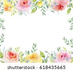 painted watercolor composition... | Shutterstock . vector #618435665