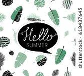 hello summer. cute vector... | Shutterstock .eps vector #618437645