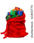 Bag Of Santa Claus With Gifts....