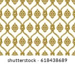 rope seamless tied fishnet... | Shutterstock .eps vector #618438689